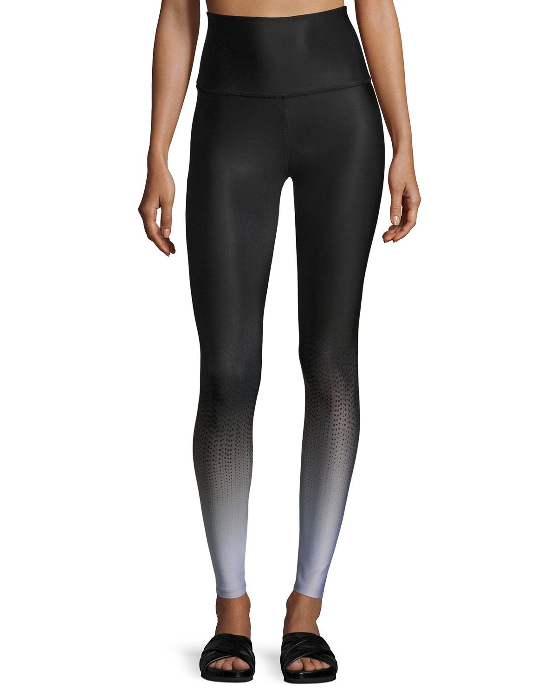 Beyond Yoga Fade To Black High-Waist Full-Length Leggings, Black Pattern