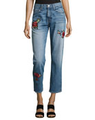 Josie Patched Denim Jeans