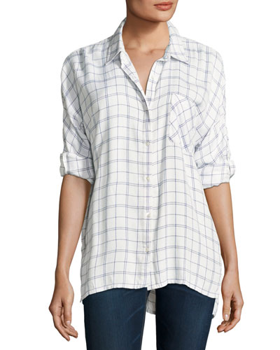 Aralinne Check Button-Down Shirt