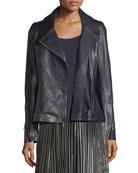 Kimbry Leather Moto Jacket