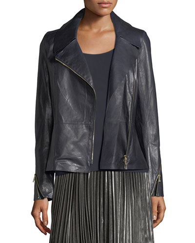 Kimbry Leather Moto Jacket