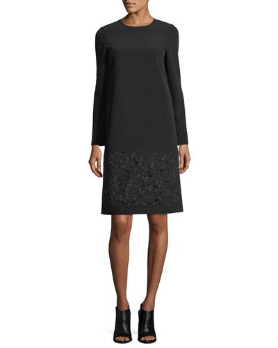 Corbin Long-Sleeve Emory Cloth Dress