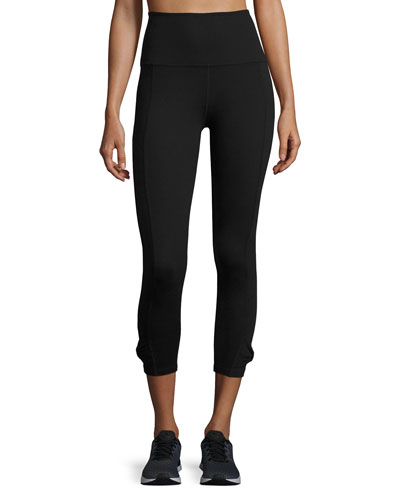 x kate spade new york cinched bow high-waist leggings, black
