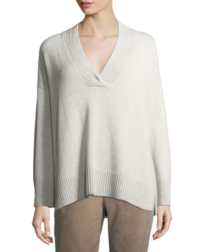 Vanise Oversized V-Neck Cashmere Sweater