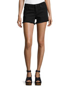 Quinn Mid-Rise Girlfriend Cutoff Shorts