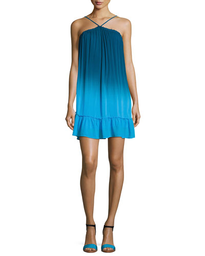 Lissa High-Neck Ombre Shift Dress