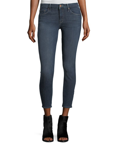 Looker Crop Mid-Rise Skinny Jeans