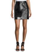 Lightweight Leather Miniskirt