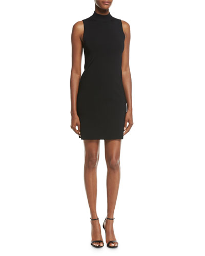 Rose Sleeveless Low-Back Cocktail Dress