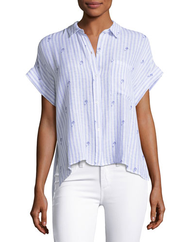 Whitney Striped Button-Front Shirt