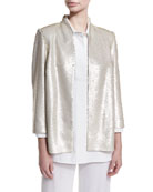 Matte Sequin Jacket