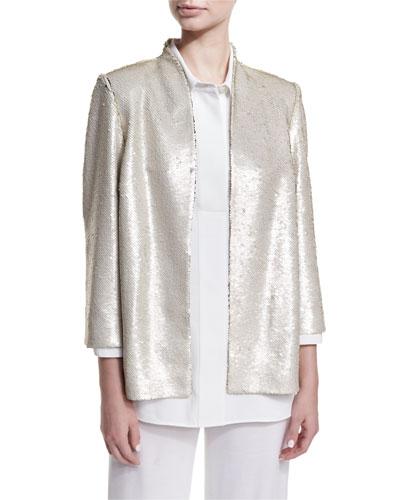 Matte Sequin Jacket, Plus Size