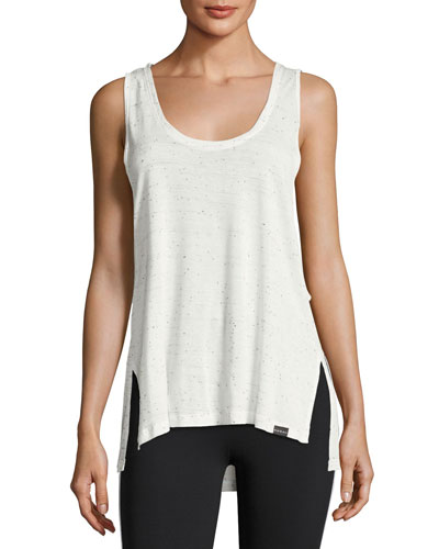 Line Oversized Jersey Tank Top, White