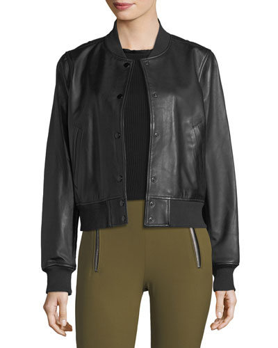 Cooper Leather Bomber Jacket