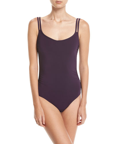 Jet Set One-Piece Swimsuit, Purple (Available in DD-E Cups)