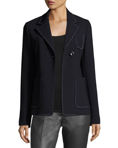 Osaka Bi-Stretch Wool-Blend Jacket