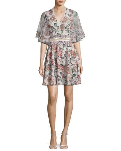 Belle Floral-Print Dress