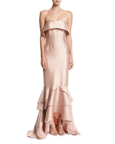 Hattie Strapless Gown, Blush