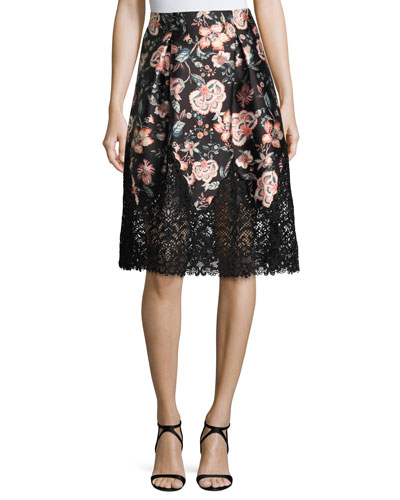 Bonnie Floral-Print Full Skirt