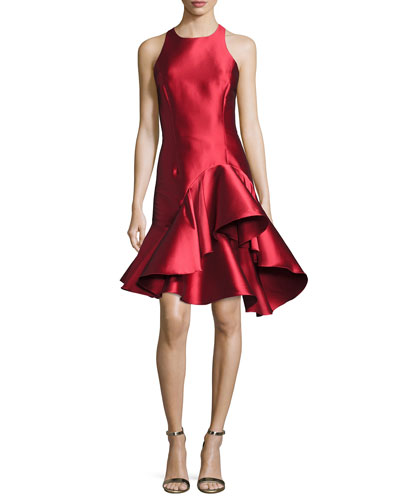 Rachel Sleeveless Ruffled Cocktail Dress