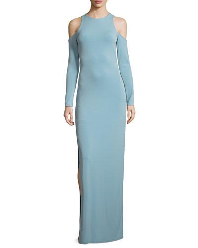 Dawna Side-Slit Cutout Maxi Dress