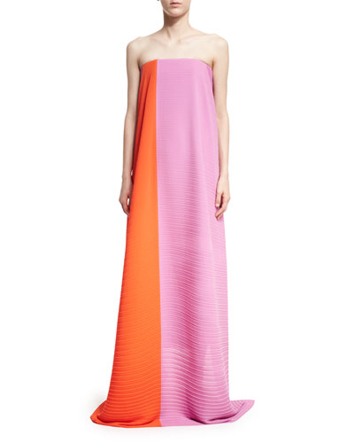 Alette Strapless Textured Maxi Dress