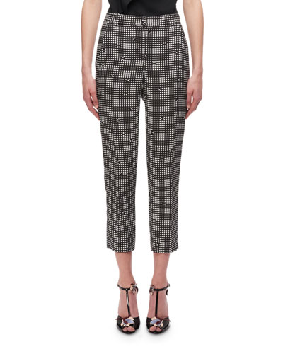 Gingham Cigarette Pants
