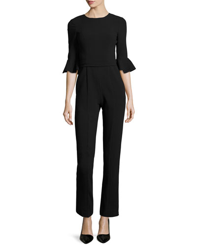 Brooklyn 3/4-Bell-Sleeve Jumpsuit