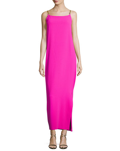 Benita Sleeveless Cowl-Back Column Dress