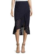Nikita Cotton Eyelet Wrap Skirt