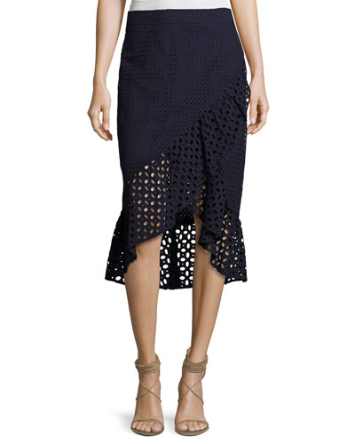 Nikita Cotton Eyelet Wrap Skirt