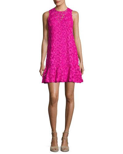 Barbra Sleeveless Lace Shift Dress