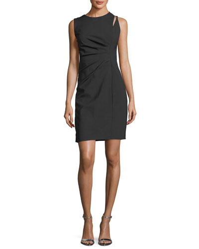 Clarette Sleeveless Stretch-Wool Dress