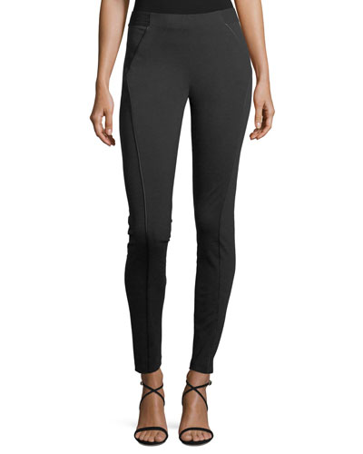 Trina Skinny Stretch-Knit Ankle Pants