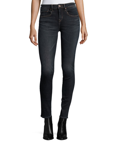 Five-Pocket Mid-Rise Skinny Jeans