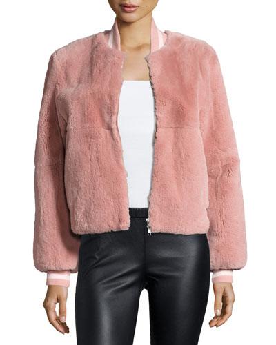 Ellington Fur Bomber Jacket