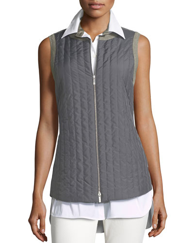 Bailey Alpine Outerwear Quilted/Flannel Combo Vest
