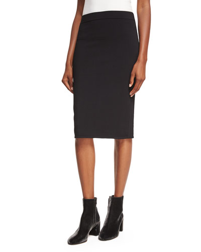 Fitted Jersey Pencil Skirt