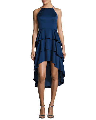 Sleeveless Tiered Skirt Cocktail Dress
