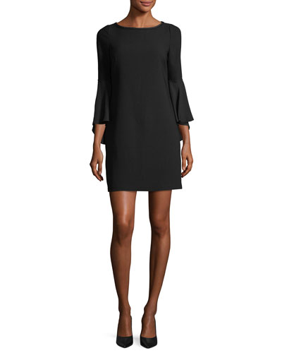 Esmarella Bell-Sleeve Shift Dress