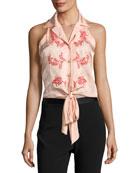 Lola Sleeveless Tie-Front Top