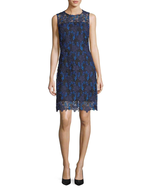 Ophelia Sleeveless Floral Lace Dress