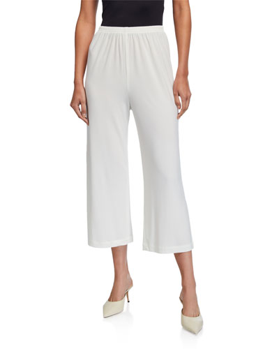Wide-Leg Ankle Pants, Petite