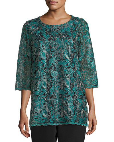 Petite Lux Embroidered Tunic