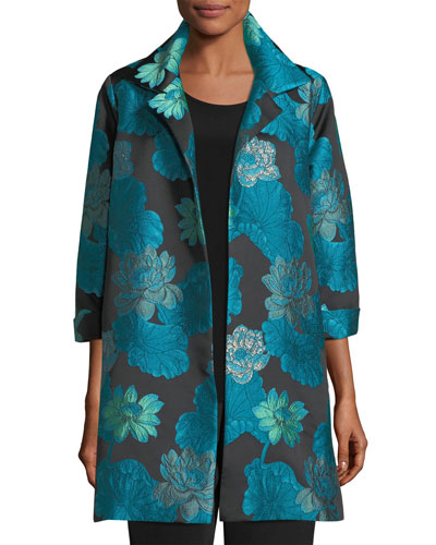 Gilded Lilly Jacquard Party Jacket, Plus Size