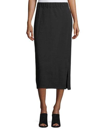 Organic Cotton Jersey Pencil Skirt, Petite