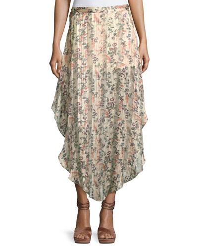 Anastasia Slayer Pleated Tulip Maxi Skirt
