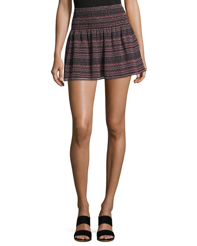 Alphosine Geo Stripe Mini Skirt