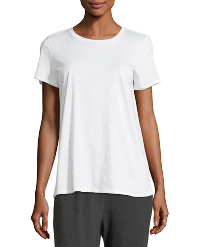 Organic Cotton Easy Jersey Tee, Petite