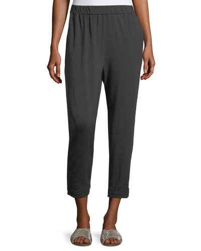 Cozy Jersey Slouchy Pants, Plus Size